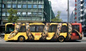 Street marketing autobús